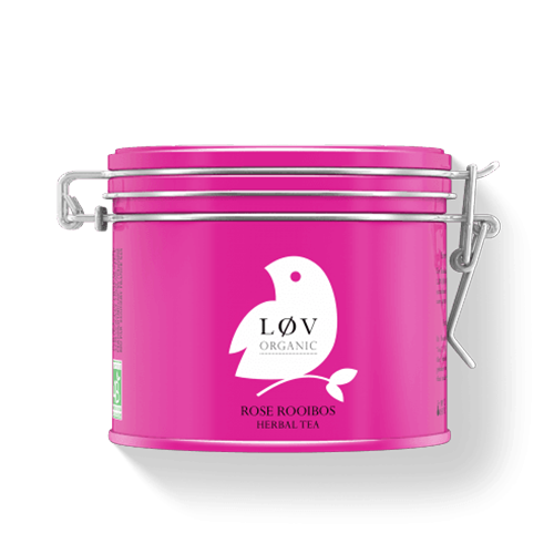 ROSE ROOIBOS METAL TIN 100g